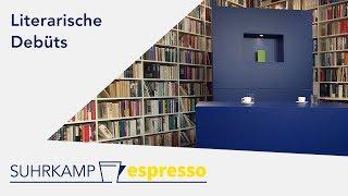 4 literarische Debüts – Suhrkamp espresso #8