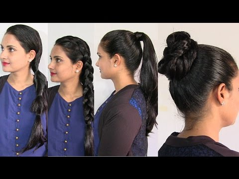 Easy and Simple Hairstyles in Oily Hair - Oiled Hair Hairstyle
