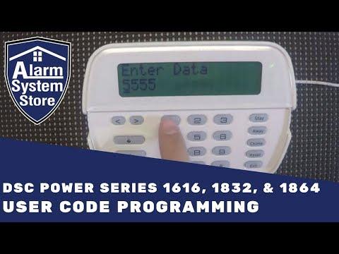 DSC Power Series User Code Programming  - Alarm System Store