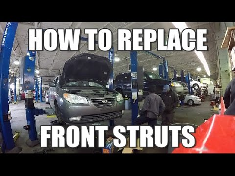 How to Replace Front Struts 2006-2010 Hyundai Elantra Part 1