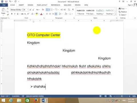 ការសិក្សាបន្ថែម Font OptionMs Office Word 2013 speak khmer
