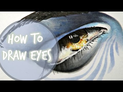 HOW TO DRAW AND COLOR EYES