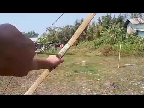 Home made Bamboo bow and arrow
