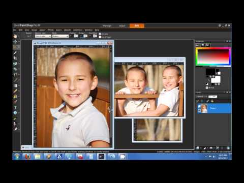 How to create a blended photo collage? Corel Paintshop Pro X4 HD Tutorial