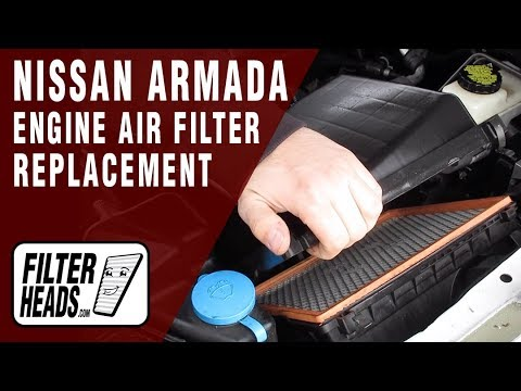 How to Replace Engine Air Filter 2010 Nissan Armada V8 5.6L