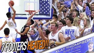 Dennis Rodman Jr VS Klay Thompson Alma Mater RIVAL GAME! 7 Footers Get HEATED & GO AT IT!