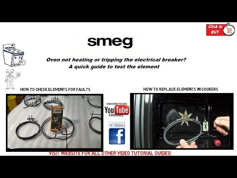 Smeg Oven is not heating or tripping the electrical breaker? possible element fault