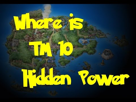 Where Is: TM 10 - Hidden Power (Pokemon Ruby/Sapphire/Emerald)