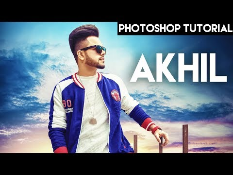 Poster Design of Akhil Song Bollywood Photoshop CC 2018 || SIMARVFX ||
