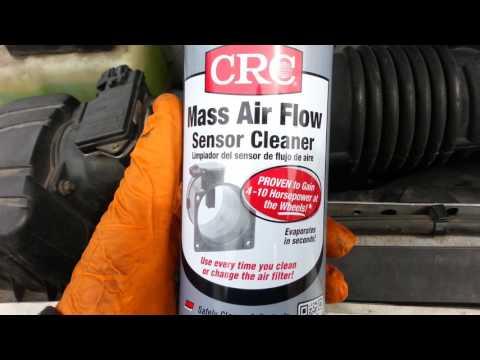 Cleaning mass airflow sensor