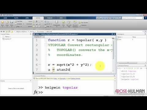 ece180 matlab: Functions