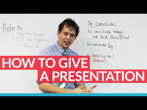 How to give a strong presentation: tips & key phrases