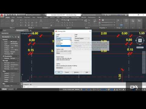 Setting drawing units in AutoCad 2017 | Managing Files and Options | Paret-2