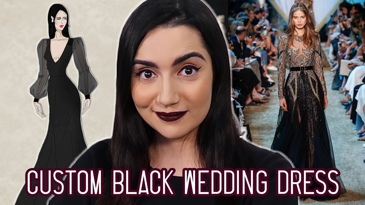 I Got A Custom Black Wedding Dress