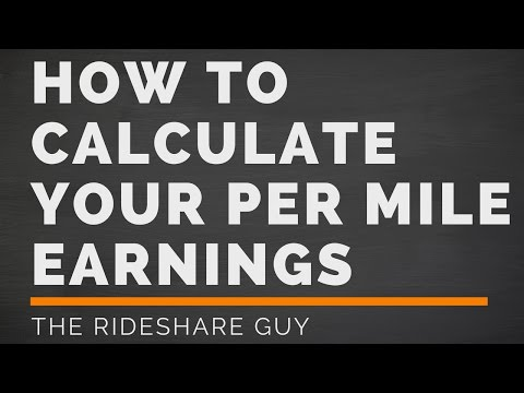 How To Calculate Your Per Mile Earnings