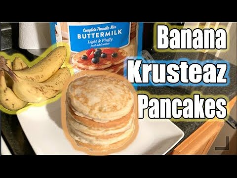 HOW TO MAKE BANANA PANCAKES WITH KRUSTEAZ PANCAKE MIX | FROM BEGINNING TO END |