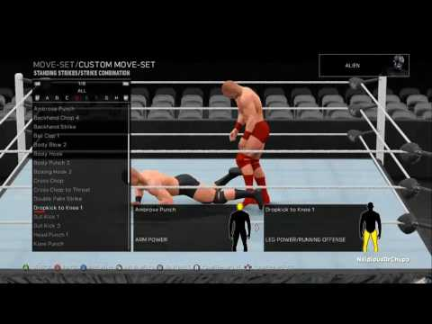 WWE 2k17 + all DLC Move Previews Video 1 of 9 - Standard Actions & Standing Strikes