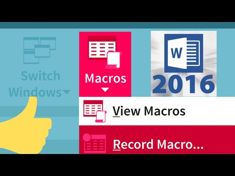 How to Create Macros in Word 2016