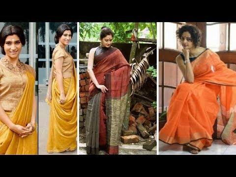 10 Different Way of Wearing Saree To Look Slim With Perfect Thin Pleats //  Cotton Saree