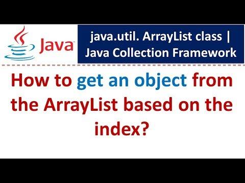 Java : Collection Framework : ArrayList (Get Object)