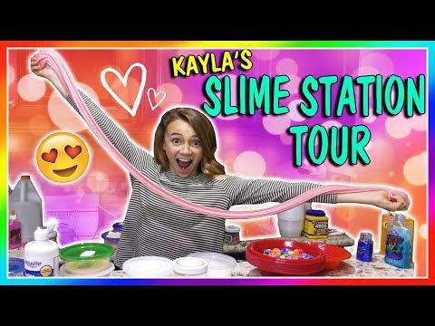 KAYLA'S SLIME STATION TOUR   We Are The Davises
