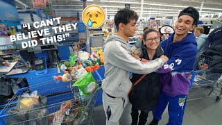 Cutting People in Line, Then Paying For Their Groceries