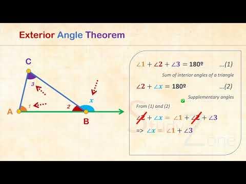 Triangles - Exterior Angle Theorem - Middle School Mathematics