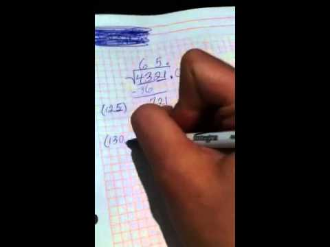 Taking square roots by hand