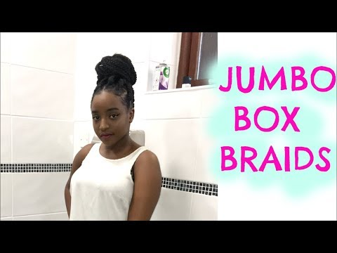 DIY Box Braids | How To Do Box Braids On Yourself | Natural Hairstyles ||  ITSLISSAEMM