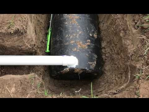 Our homemade septic system - on the cheap!
