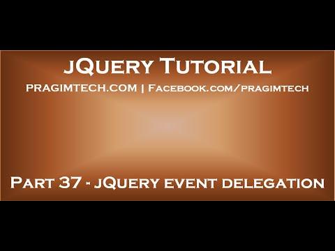 jQuery event delegation