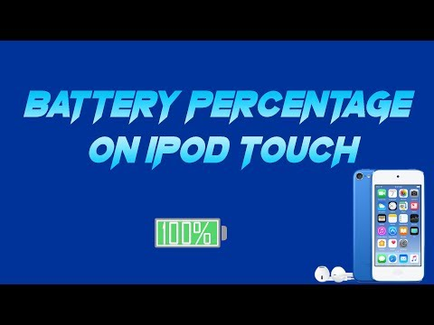 How to get Battery Percentage on iPod 6th generation (IOS 11)