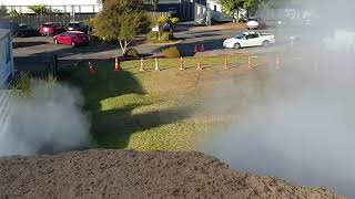 The newest geothermal feature in Rotorua, New Zealand.