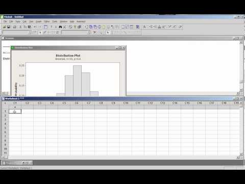 Computing Values of the Binomial Distribution with Minitab