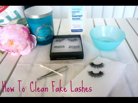 HOW TO: Cleaning Fake Lashes