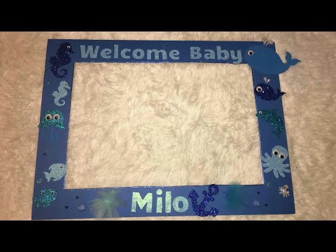 Affordable DIY Photo Booth Frame for baby shower under the sea theme