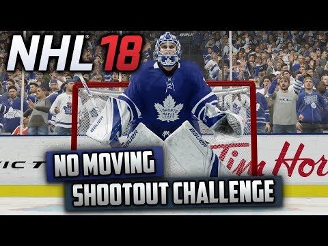 Can I Win a Shootout Without Moving My Goalie? (NHL 18 Challenge)