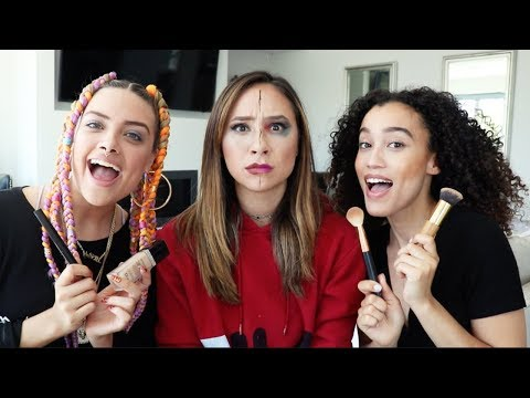 MY NEW ROOMMATES DO MY MAKEUP!!
