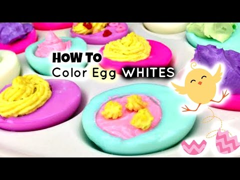 How to Color Egg WHITES for Easter - Cute EASTER EGGS 2015
