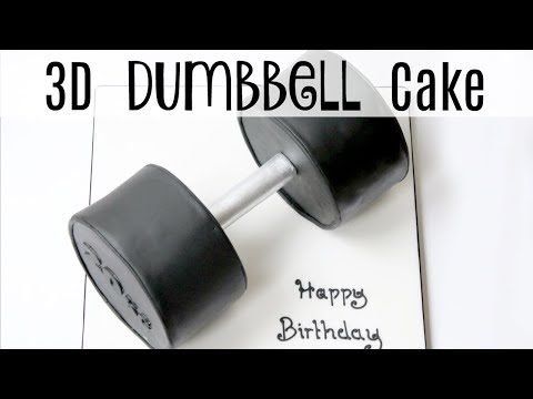 How to make a 3D Dumbbell Cake