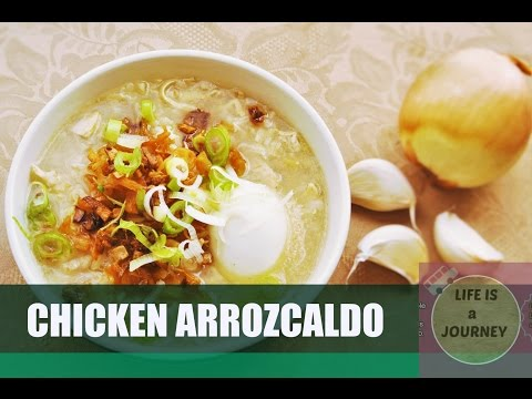 Brown Rice Chicken Arrozcaldo  | Filipino style chicken and rice soup