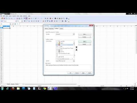 Custom Toolbars In Open Office