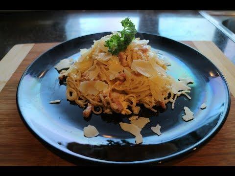 Angel Hair Spaghetti Carbonara  Easy & Simple