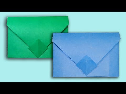 How To Make an Envelope ✉ Without Tape or Glue || Super Easy Origami Envelope