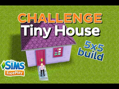 The Sims FreePlay - Challenge: Tiny House (5x5 house build)