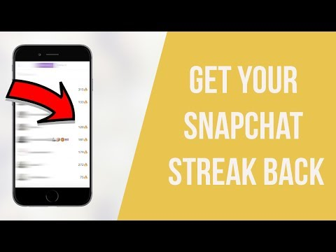 How To Get Your Snapchat STREAK BACK After You Lost It (NEVER LOSE A STREAK AGAIN) *UPDATED