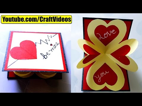 How to make pop up card I love you | Valentine's Day Card | Valentines day Pop Up Card