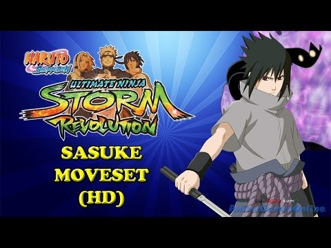 Naruto Storm Revolution Sasuke Moveset HD