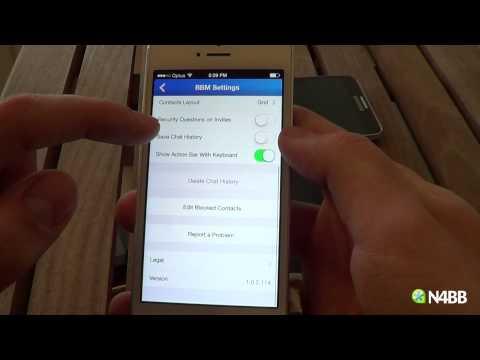 BBM for iPhone vs Android vs BlackBerry 10