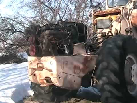 #831 cold start 305 chevy powered front end loader [Davidsfarm]